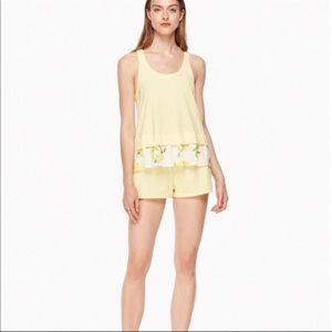 Kate Spade 2-Piece Shorts Lemon Sleep Set NWOT